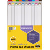 MARBIG COLOURED DIVIDERS A3 110Tab Board LScape Asst