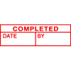 XSTAMPER 1 COLOUR TITLES AC 1542 CompletedDateBy Red