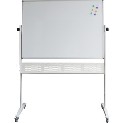 MOBILE DOUBLE SIDED WHITEBOARD 1200 x 900 WITH STAND