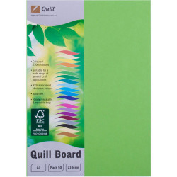 CARD- QUILL A4 XL BOARD 210GSM LIME PKT