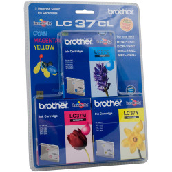 BROTHER LC 37 COLOUR VALUE PACK CYAN, MAGENTA, YELLOW