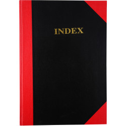 RED & BLACK HARDCASE NOTEBOOKS A4 Indexed 200Pg