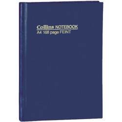 BOOK- NOTE COLLINS A4 SHORT 168PG # 05800