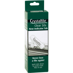 CRYSTALFILE INDICATOR TABS (NEW STYLE) Clear 50PK