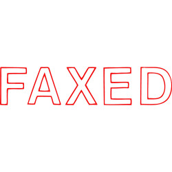 STAMP- X-STAMPER ERGO 1346 FAXED RED 5013460